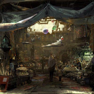 Representação de uma das lojas da área, que teve inspiração em Star Wars, Istambul e Marrakech